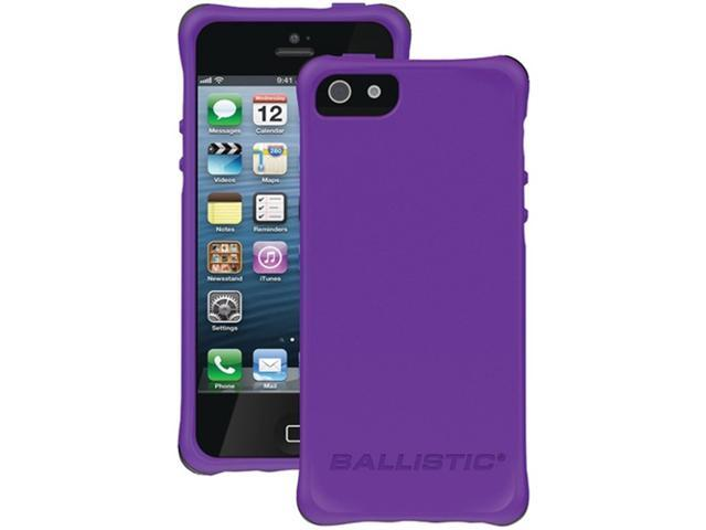 Ballistic Ls0955-M085 Ls Smooth Case compatible with iPhone® 5 ,Purple Tpu With 4 Lime Green, 4 Pink, 4 Charcoal, 4 Teal Bumpers