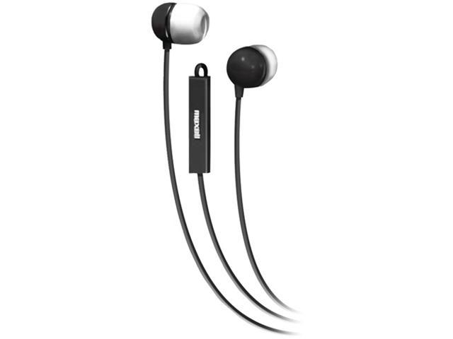 Maxell 190300 - Iemicblk Stereo In-Ear Earbuds With Microphone & Remote (Black)