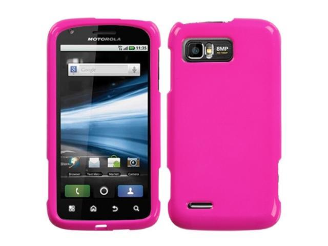 MYBAT Solid Shocking Pink Phone Protector Cover for MOTOROLA MB865 (Atrix 2)