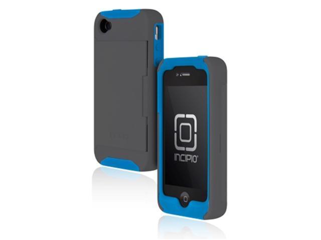 Incipio Apple® iPhone® 4 / 4S Stowaway Credit Card Case, Gray / Blue