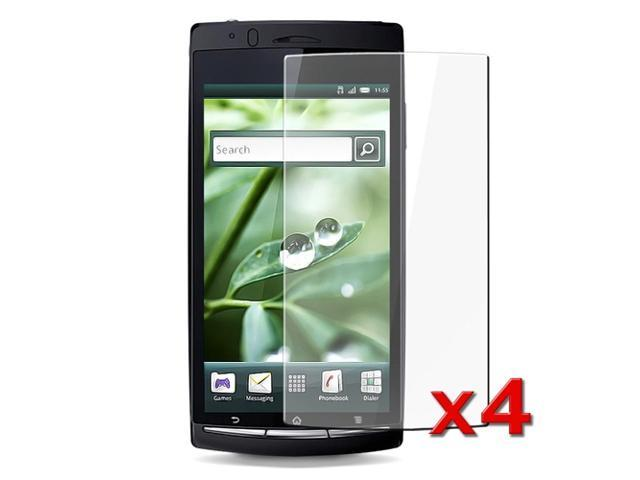 4-Pack Crystal Clear Screen Film Shield compatible with Sony Ericsson Xperia Arc X12