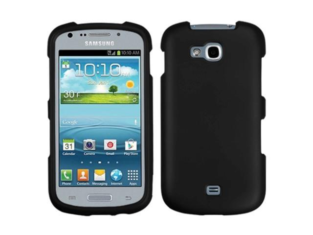 MYBAT Black Phone Protector Cover(Rubberized) Compatible With SAMSUNG: R830 (Galaxy Axiom)