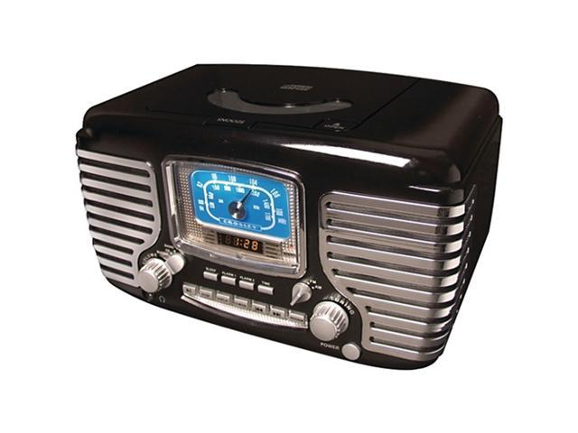 Crosley Corsair Clock Radio with CD Player - Black CR612-BK