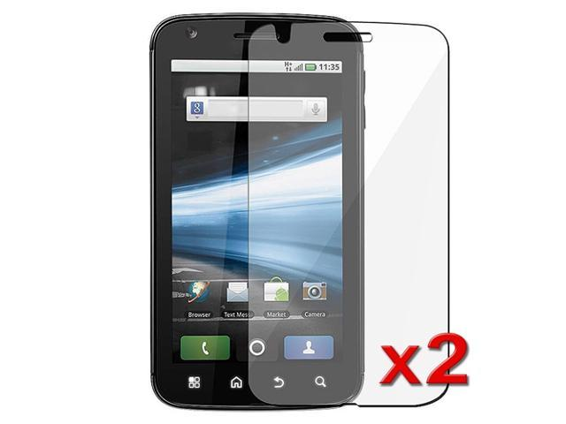 2-Pack Transparent Clear LCD Screen Protector Cover Guard Film Shield Film compatible with Motorola Atrix 4G MB860