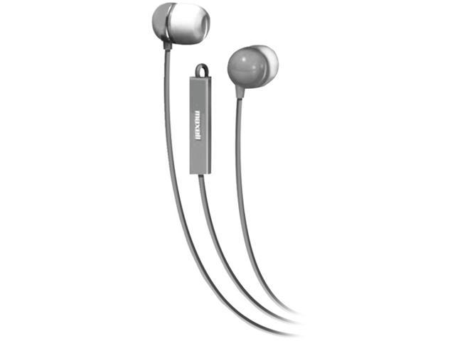 Maxell 190302 - Iemicslv Stereo In-Ear Earbuds With Microphone & Remote (Silver)