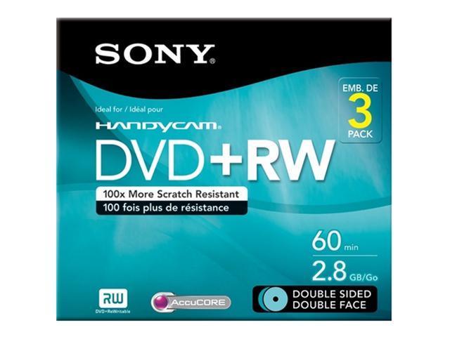 SONY 3DPW60DSR2HC 2.8gb camcorder double-sided dvd-rw