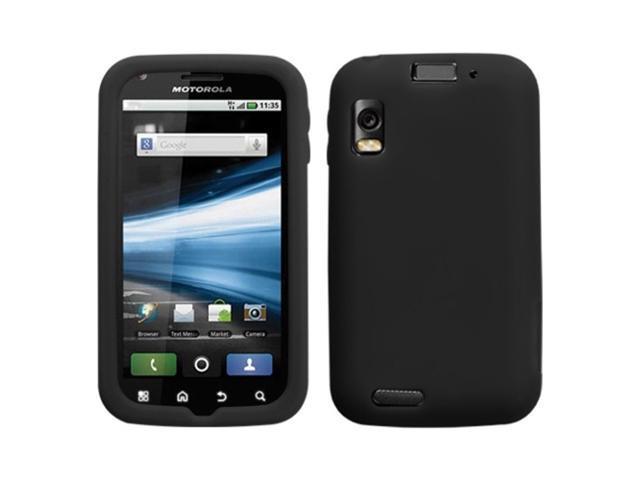 MYBAT Solid Skin Cover (Black) for MOTOROLA MB860 (Olympus/Atrix 4G)
