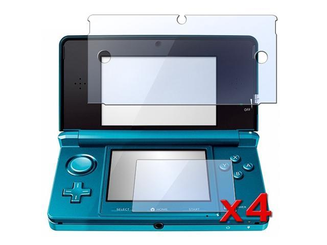 4 Pack Clear LCD Screen Protector Guard for Nintendo 3DS (Set of 2 - Top and Bottom Cover)