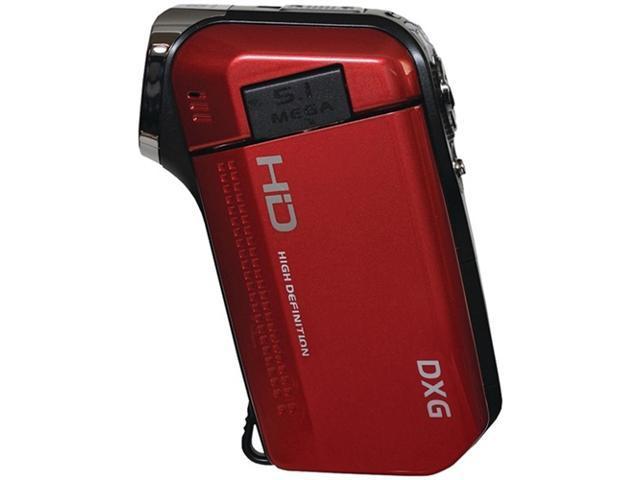 Dxg Usa Dxg-5B6Vr Hd 16.0 Megapixel 720P High-Definition Quickshots Mini Digital Video Camera (Red)