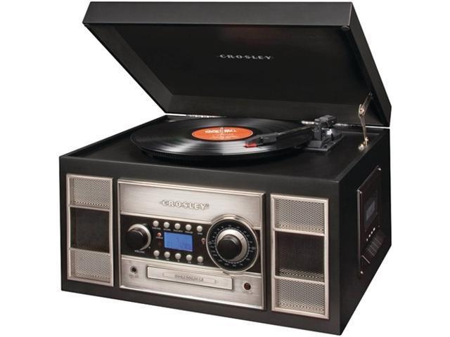 Crosley Radio CR2413A-BK Memory Master II CD Recorder/USB (Black)