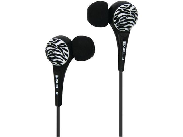Maxell 190269 - Wtblack Wild Things Zebra Earbuds (Black)
