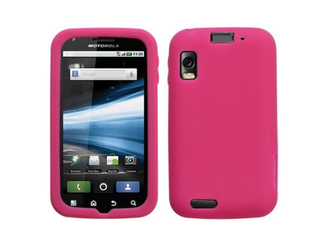 MYBAT Solid Skin Cover (Hot Pink) for MOTOROLA MB860 (Olympus/Atrix 4G)