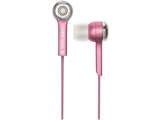 Coby Cvem52Pnk Jammerz Super Bass Digital Stereo Earbuds (Pink)
