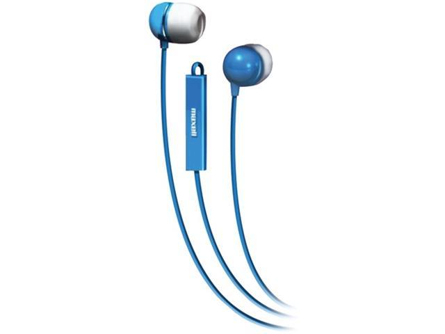 Maxell 190301 - Iemicblu Stereo In-Ear Earbuds With Microphone & Remote (Blue)