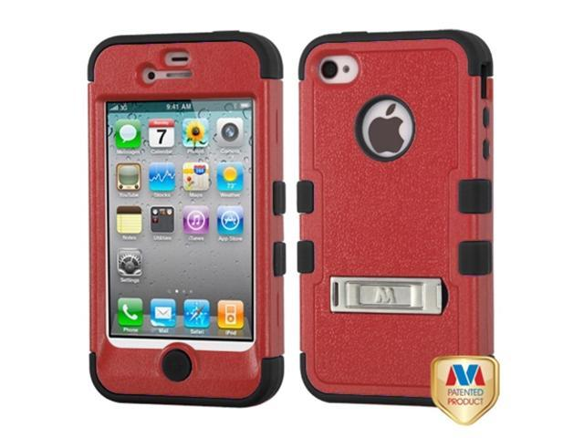 MYBAT iPhone 4S/4 Case Cover - Natural Red/Black TUFF Hybrid Phone Protector Cover (with Stand) For Apple iPhone 4S/4