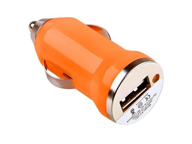 eForCity Orange Mini USB Car Charger Adapter For Apple iPhone 5S 5 4S 4 Samsung Galaxy S4 i9500 S5 Note 3 N9000 LG Nexus ...