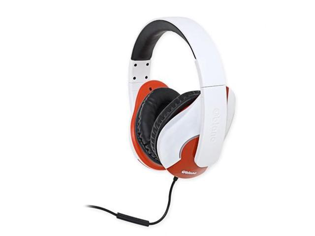 SYBA Oblanc Shell200 Light Over-Ear Stereo Headset with In-line Mic & Call Control, White OG-AUD63046