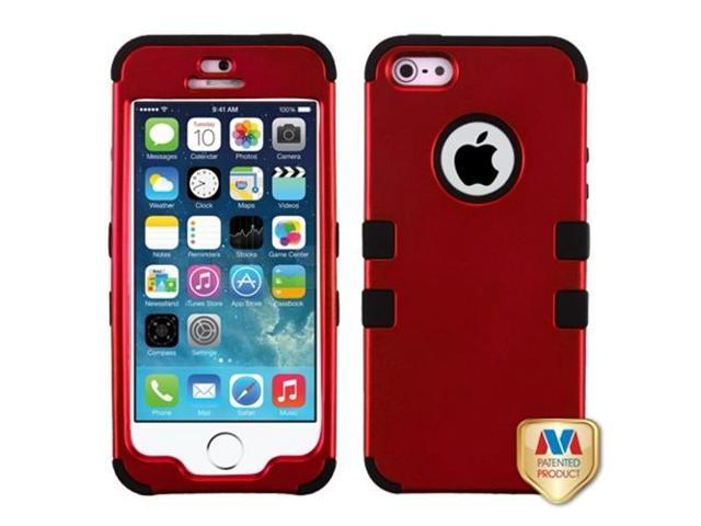 MYBAT Titanium Red/Black TUFF Hybrid Phone Protector Cover Compatible With Apple iPhone 5/ iPhone 5s