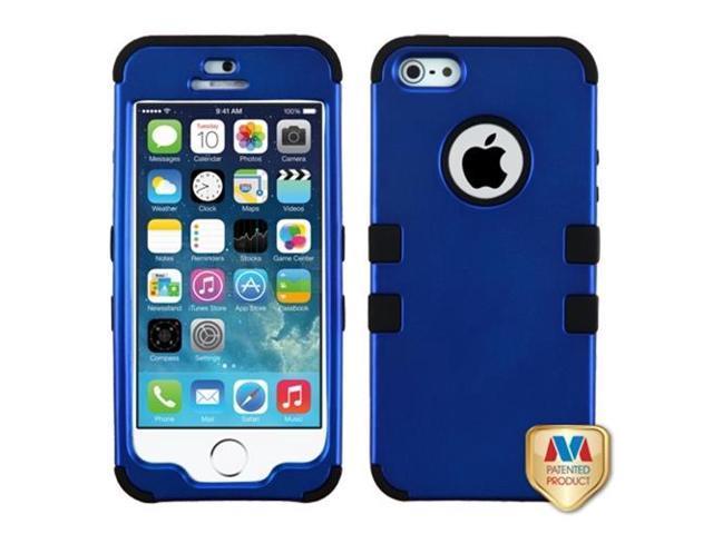 MYBAT Titanium Dark Blue/Black TUFF Hybrid Phone Protector Cover Compatible With Apple iPhone 5/ iPhone 5s