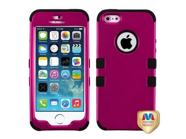 MYBAT Titanium Solid Hot Pink/Black TUFF Hybrid Phone Protector Cover Compatible With Apple iPhone 5/ iPhone 5s