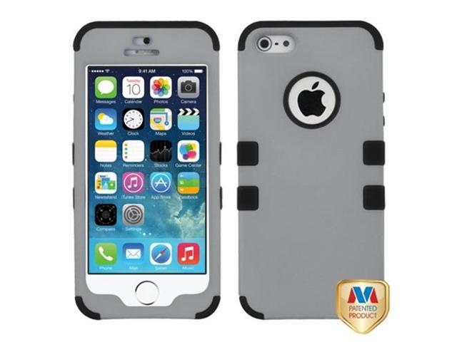 MYBAT Rubberized Gray/Black TUFF Hybrid Phone Protector Cover Compatible With Apple iPhone 5/ iPhone 5s