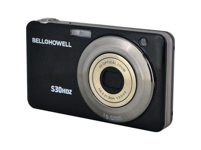 BELL+HOWELL S30HDZ-BK 15.0 Megapixel S30HDZ Slim Digital Camera with 5x Optical Zoom ,Black