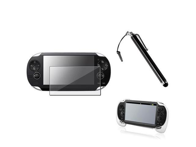 eForCity White Hand Grip + Clear Screen Protector + Black Touch Stylus Compatible With Sony PS Vita PSV