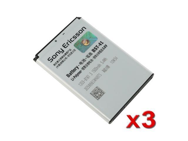 3X Orginal OEM Sony Ericsson BST-41 Original Battery Xperia Play Xperia X1 Xperia X10