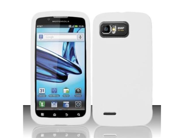 BJ For Motorola Atrix 2 MB865 Premium Silicone Skin Case Cover - White