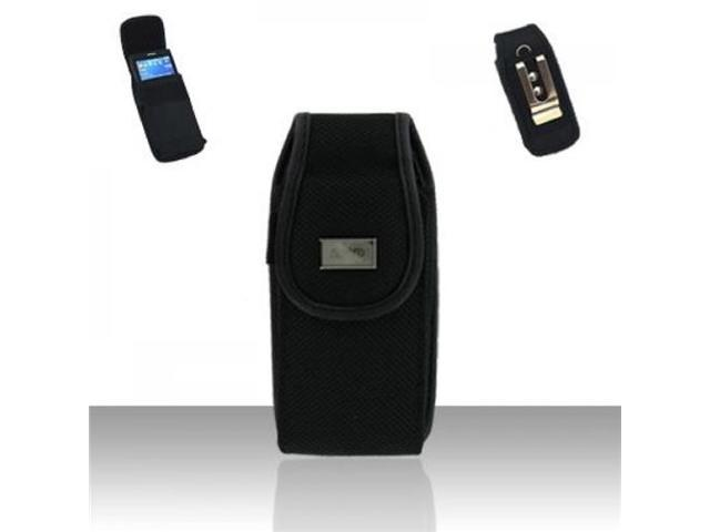 BJ For iPhone 5 / 5s / 5c w/ Case Cover Size Black Premium Canvas Pouch