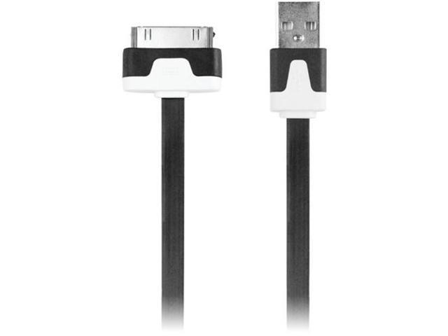 Iessentials Ipl-Fdc-Bk 30-Pin Charge/Sync Flat Cable, 3.3Ft ,Black