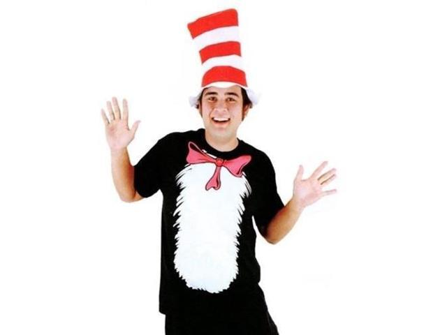 Dr. Seuss Cat in the Hat Short Sleeved Adult TShirt Kit, Xlarge