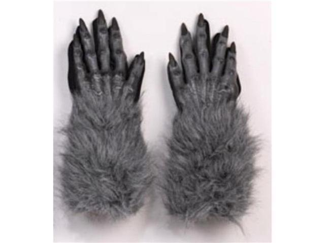 Werewolf Gloves Adult Grey