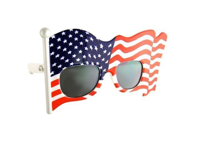 The Patriot Red White and Blue Holiday Costume Sun-Staches (flag)