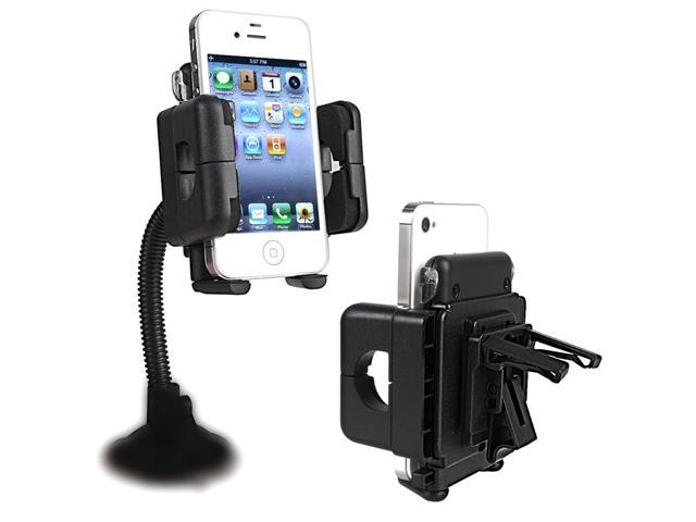 eForCity Windshield Phone Holder Compatible with Nexus 5X 5P Samsung? Galaxy S IV / S4/ I9500/ I9505, Black
