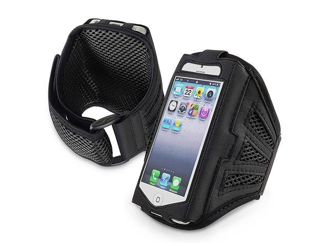 eForCity Deluxe ArmBand Compatible with Apple® iPhone® 5/ iPod touch® 5th Generation, Black/ Black