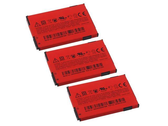 3X HTC EVO 4G Standard Battery [OEM]RHOD160 / 35H00123 (A), Red