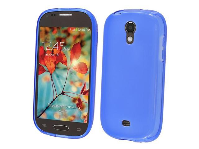 hrw for samsung galaxy light t399 frosted tpu cover blue. Black Bedroom Furniture Sets. Home Design Ideas