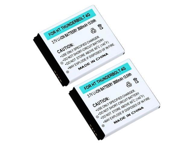 eForCity 2X Extended Li-ion Battery with Cover compatible with  HTC Thunderbolt 4G