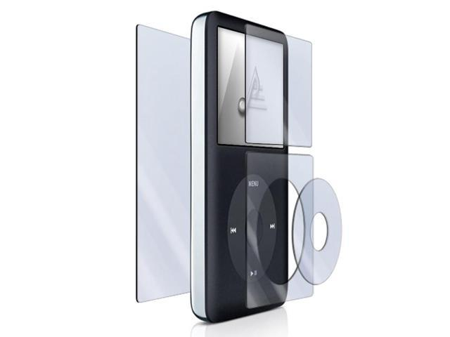 4-piece Kit Screen Protector Shield Compatible With Apple iPod classic¡§ 120GB / 160GB / 80GB