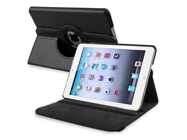 eForCity 360-degree Swivel Leather Case Cover for Apple iPad Mini 1/ 2/ 3 - Black