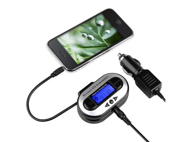 All Channel FM Transmitter w/ USB Port compatible with Nexus 5X 5P Apple® iPod touch® 5th Generation, Black