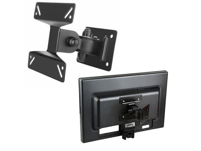"eForCity Wall Mount Bracket for Flat Panel LCD / Plasma TV [B01], Max 33lbs, 10"" - 24"", Black"