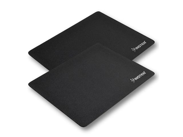 eForCity 2-Piece Mouse Pad for Optical/ Trackball Mouse, Black