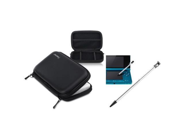 eForCity Black Hard EVA Case Carry Bag+Metal Retractable Stylus For Nintendo 3DS N3DS