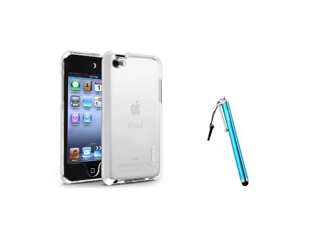 eForCity Clear Snap-on Crystal Case + Blue Touch Screen Stylus Bundle Compatible With Apple® iPod Touch 4th Generation