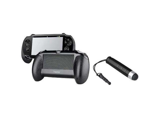 Black Hard plastic rubber coating Hand Grip + Black Stylus for Sony PlayStation Vita