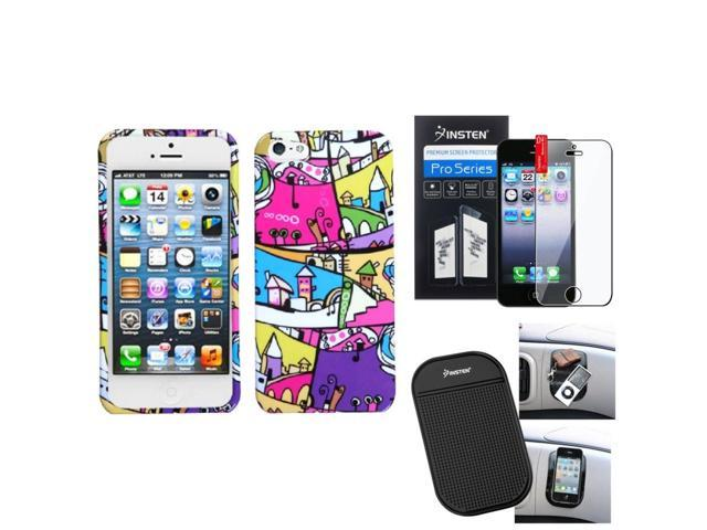 eForCity Film + Mat + foreign Building Printed Design Hard Case for Apple iPhone 5 / 5S