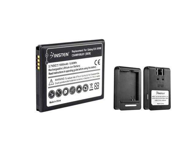 eForCity 2x Rechargeable Li-Ion Battery+Dock Charger Compatible with Samsung© Galaxy S2 II Attain i777