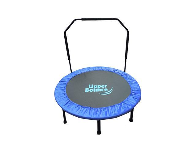"""Upper Bounce 48"""" Mini Indoor/Outdoor Foldable Trampoline with Adjustable Handrail"""